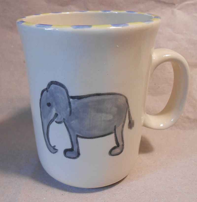 kindertasse elefant t pferei lattner. Black Bedroom Furniture Sets. Home Design Ideas